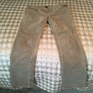 GAP Premium tan boot cut corduroy pants.