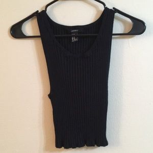 Ribbed black crop top