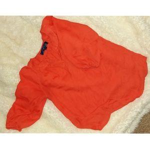 Red Hot Chiffon Blouse