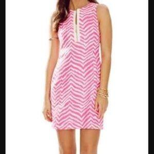 Lilly Pulitzer Penelope Shift Dress Pink Zebra