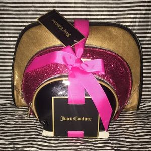 💋 Juicy Couture Set of 3 Makeup Bags 💄