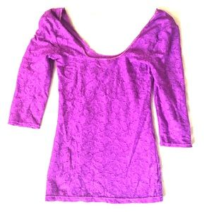 FREE PEOPLE Intimately Purple Top