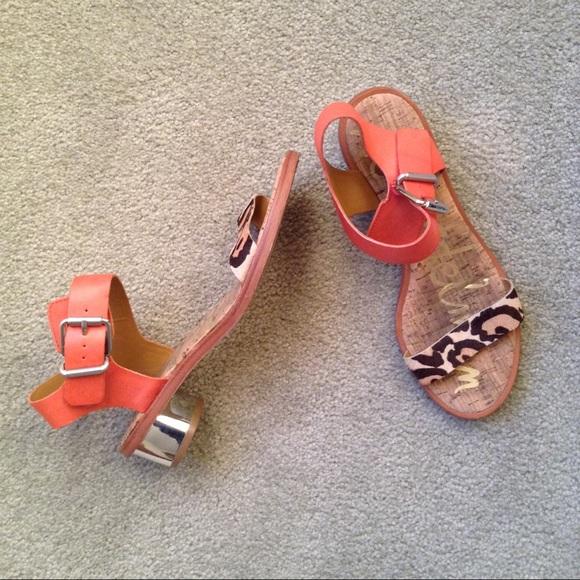 af8e8aa82 Sam Edelman Trina Leopard Sandal Block Heels. M 5a18b9cdf0137d67b708e8ba