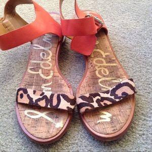 4275eb627 sam edelman Shoes - Sam Edelman Trina Leopard Sandal Block Heels