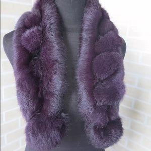 Accessories - 🎁Just in! Purple Violet Genuine Rabbit Fur Scarf
