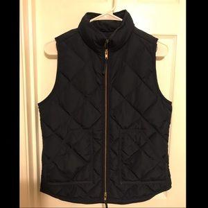 J Crew Women's Puffer Vest - Navy - Size XS