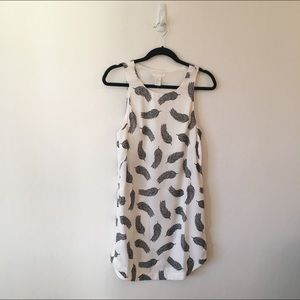 H&M Printed Feather Dress - 4. New with tags