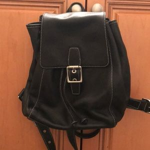 Black Coach small leather backpack