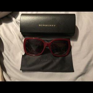Red Burberry Sunglasses