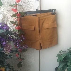 Mod Vintage Inspired Mustard Shorts