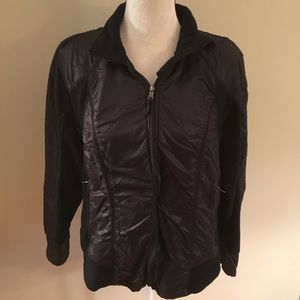 Light weight black zip up jacket size XL