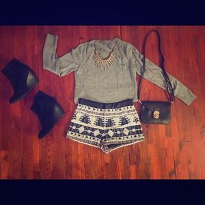 NWT Forever21 Aztec print shorts Size XS