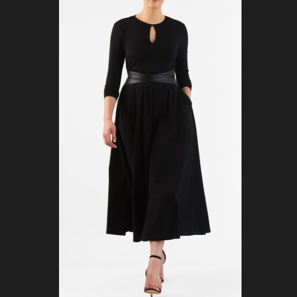 Eshakti Dresses New Black Fit Flare Midi Dress M 10 Poshmark