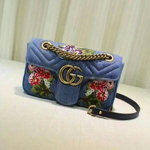 Gucci Marmont Denim Handbag