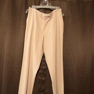 Size 14W Sag Harbor stretch tan dress slacks