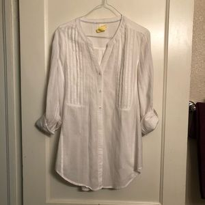 MAEVE for Anthro (size 4) cotton button up tunic