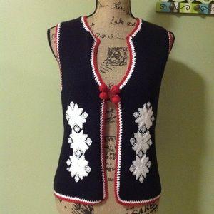 Christopher & Banks Christmas sweater vest medium
