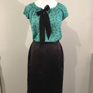 🎀Loft🎀 Bow tie-front blouse