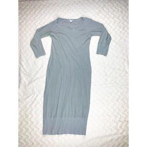 James Perse Slub Knit Maxi Dress Light Green 3/L