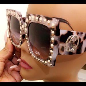 Leopard Crystal Oversize frames