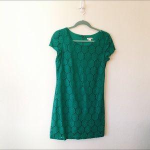 Green Lace Mini Dress S