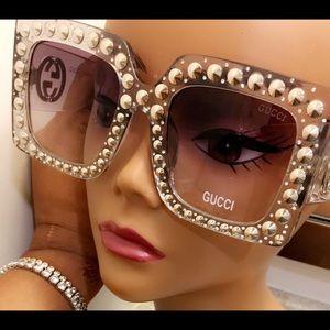 Crystal clear Oversize celebrity frames