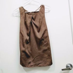 Brown (taupe) sleeveless blouse