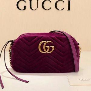 Gucci Marmont Satin Handbag