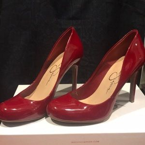 Jessica Simpson Red Patent Pumps