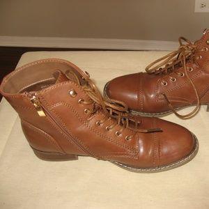 New Cognac Color Ankle Booties