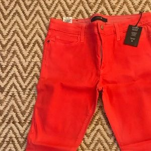 Joe's Jeans The High Water in fIery coral