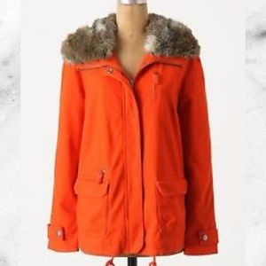 NEW Anthro DOL Flounced Pintuck Parka