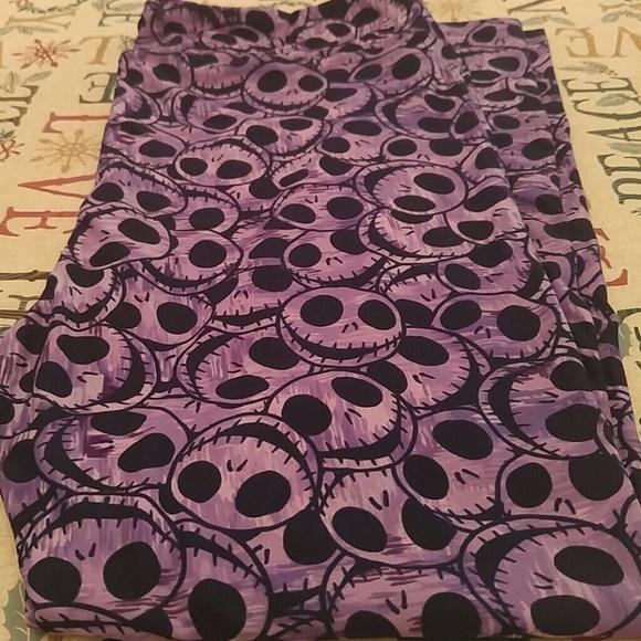 81d7a9f65bbcc LuLaRoe Pants | Nwt Disney Nbc Tc2 Leggings Purple Jack | Poshmark