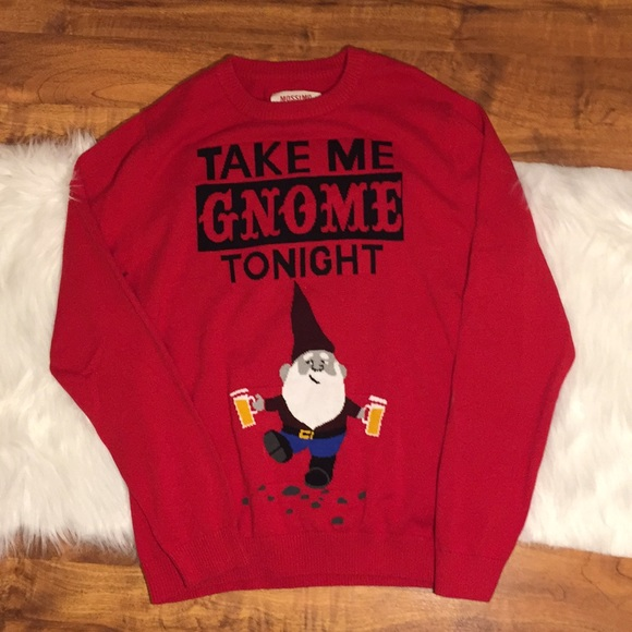 Mossimo Supply Co Sweaters Take Me Gnome Ugly Christmas Sweater