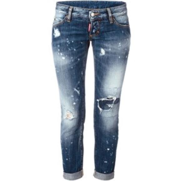 504aa7712e241 DSQUARED2 Jeans   Dsquared 2 Snow Wash Pat Jean 470 Blue   Poshmark