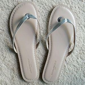 Banana Republic Silver Sandals 8.5