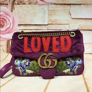 """Gucci Marmont """"LOVED"""" Shoulder Bag"""