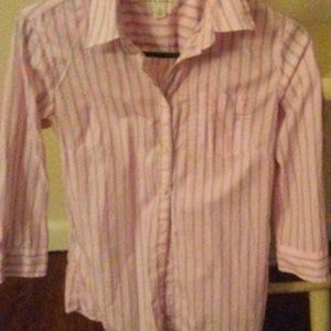 Banana Republic button down striped shirt. Size 2