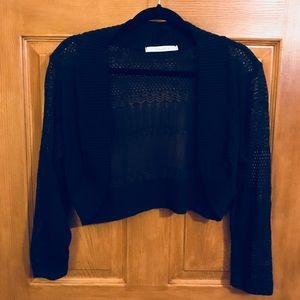 Dreamers Long Sleeve Crochet Bolero Sweater +Size