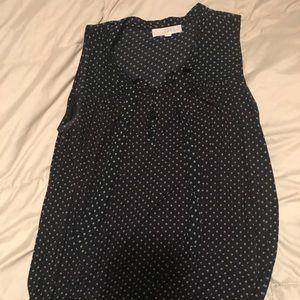 LOFT navy blue sleeveless blouse