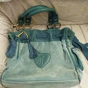 Powder baby blue juicy couture purse