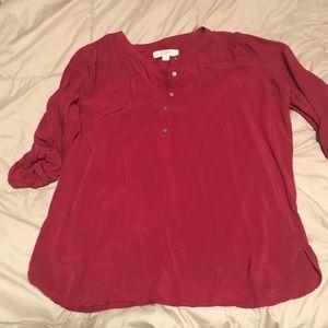 LOFT dark red blouse- Never Worn