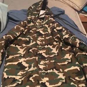Camouflage men's jacket
