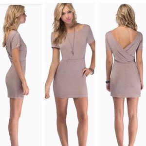 NWOT tobi callback dress taupe small