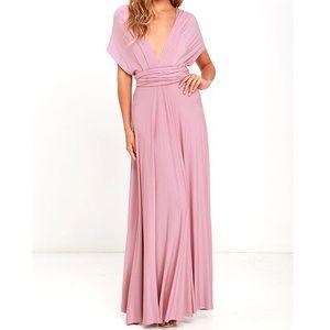 Mauve Convertible Maxi Dress