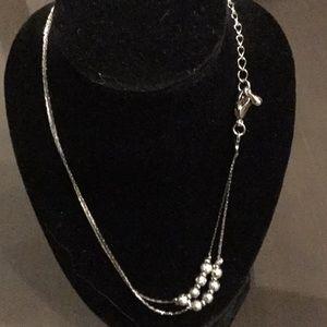 Ladies Silver Ankle Bracelet