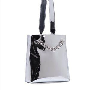 Kendal + Kylie Silver Metallic Bag
