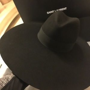 cd797709e4e35 Yves Saint Laurent Accessories - YSL Saint Laurent Wide Brim Fedora Hat