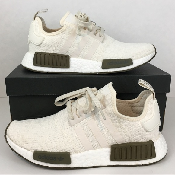 promo code fe9c0 b0215 Adidas NMD R1 Chalk White Boost Champs Sneakers