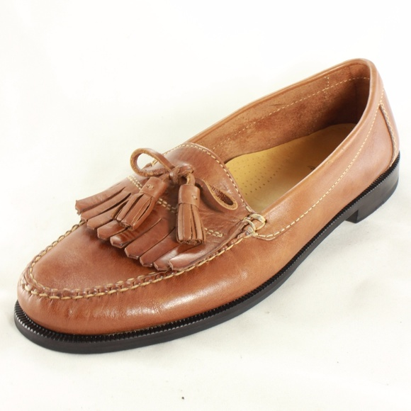 9ed7b6e7a1e Cole Haan Other - COLE HAAN Dwight Leather Tassel Loafers Saddle Tan
